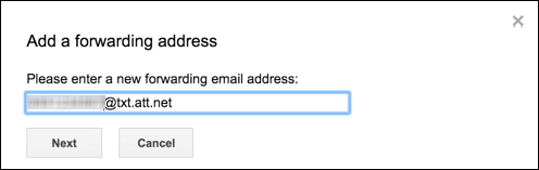 how to get gmail emails forwarded as text messages