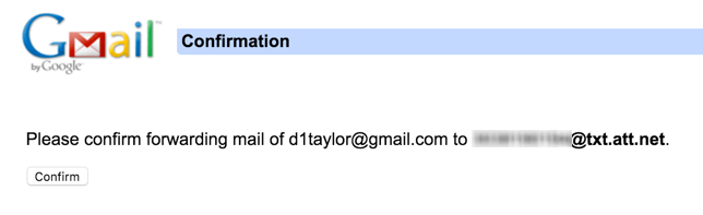 new forwarding email address confirmed gmail
