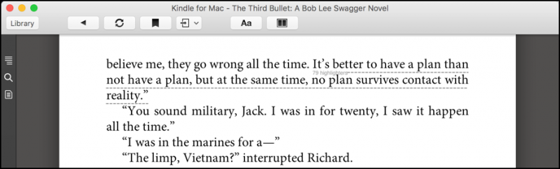 mac kindle app, popular highlights displayed
