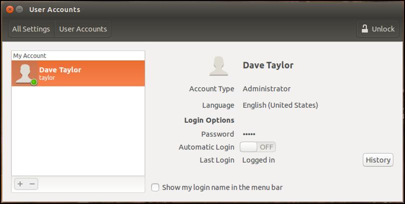existing user accounts, ubuntu linux 15.10