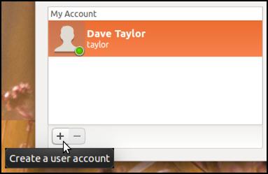 add account, Ubuntu Linux