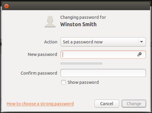 change add password new user account ubuntu linux