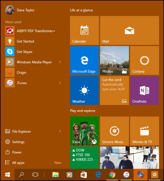 microsoft windows 10.1 win10 start menu with tiles