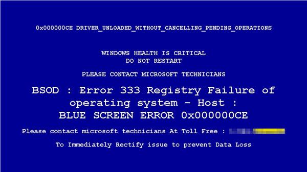 ransomware blue screen