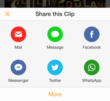share audible audio clip snippet facebook social media email