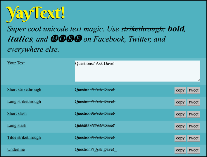 yaytext unicode translator tool utility app