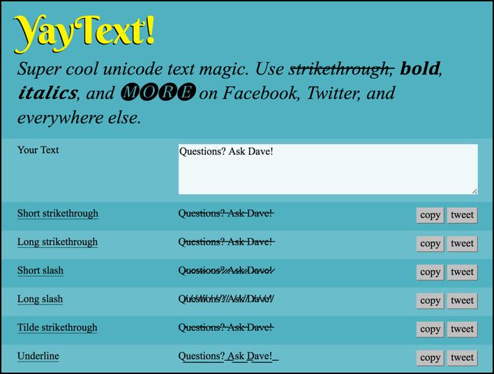 Yaytext Unicode Translator Tool Utility App
