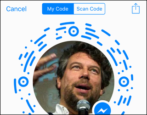 how to create facebook messenger scan code codes
