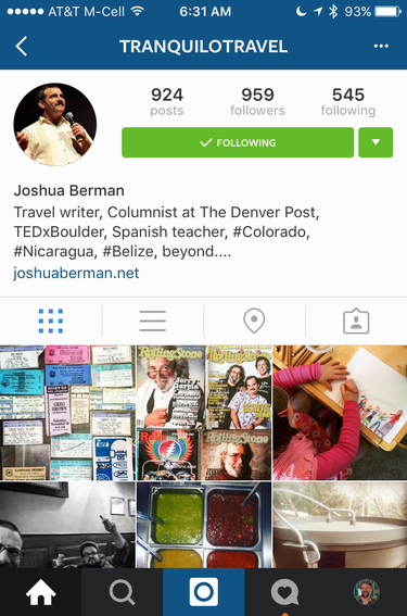 josh berman on instagram, profile