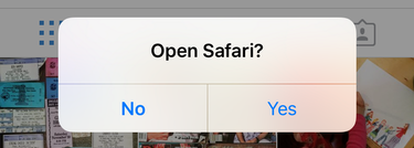 open safari web browser? iOS 9 iphone ipad prompt