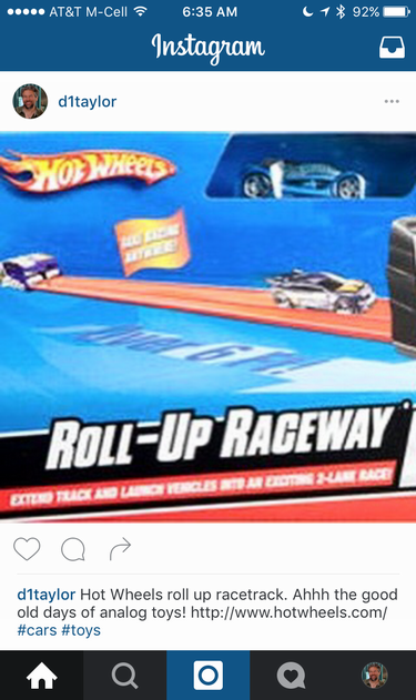 instagram post, hotwheels, url not tappable / clickable