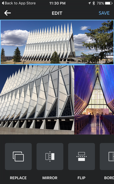 instagram collage air force academy chapel