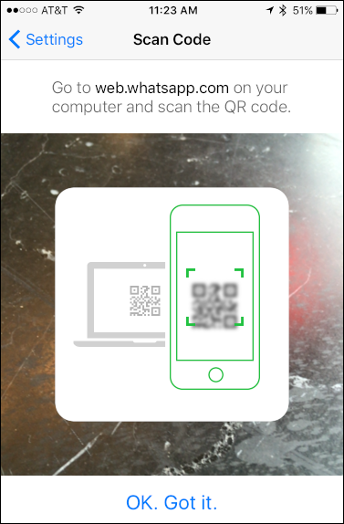 whatsapp scan qr code web