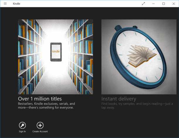 amazon kindle app for win10 windows 10