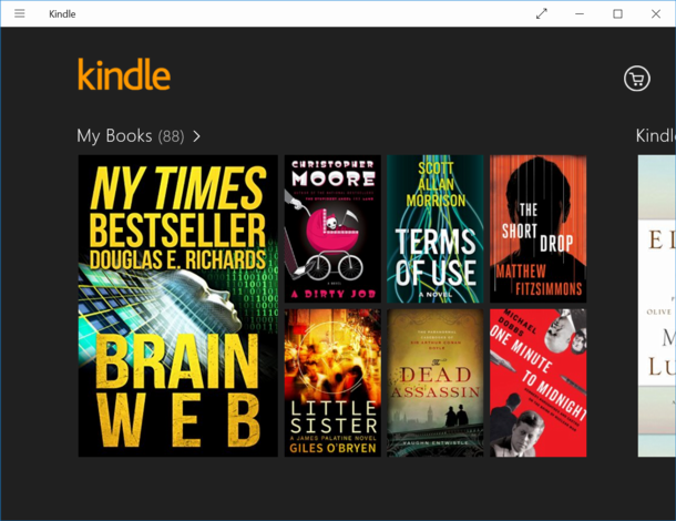 logged in to my amazon kindle account on windows 10 win10 kindle app with 2-step verification