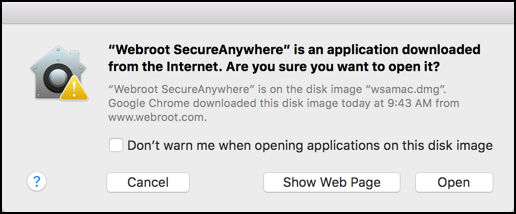 are you sure you want to install webroot