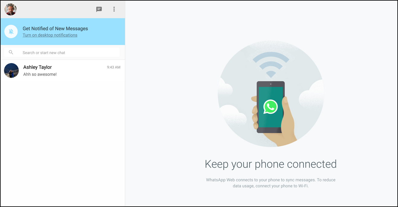 whats app on computer paired to iphone phone