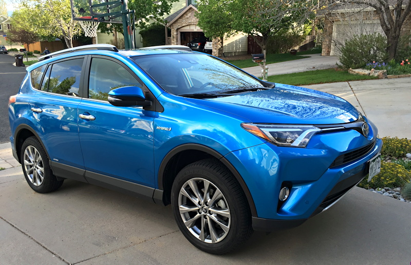 2016 toyota rav4 hybrid limited electric storm blue