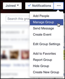 How do i delete a facebook group ask dave taylor facebook groups manage group ccuart Image collections