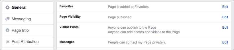 how to delete messages to a business page on facebook