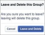 how to remove delete facebook group