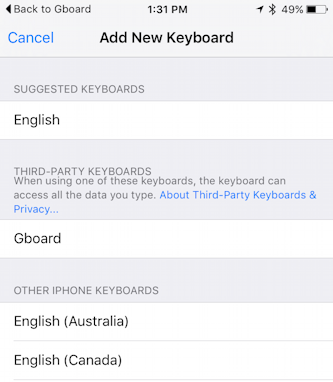 Get started with the Google Gboard iPhone Keyboard?
