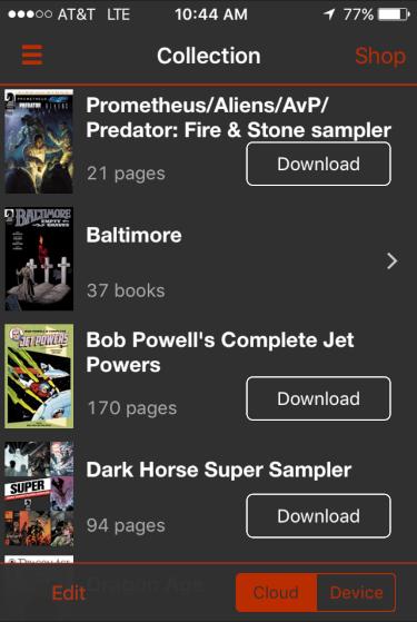 my purchases, dark horse digital comics