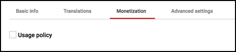 monetization tab, youtube video manager