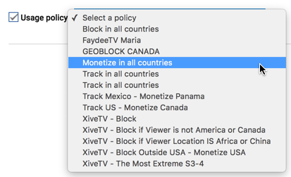 youtube video monetization usage policy options