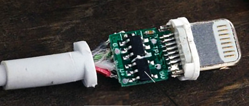 mfi lightning certified cable chip circuit