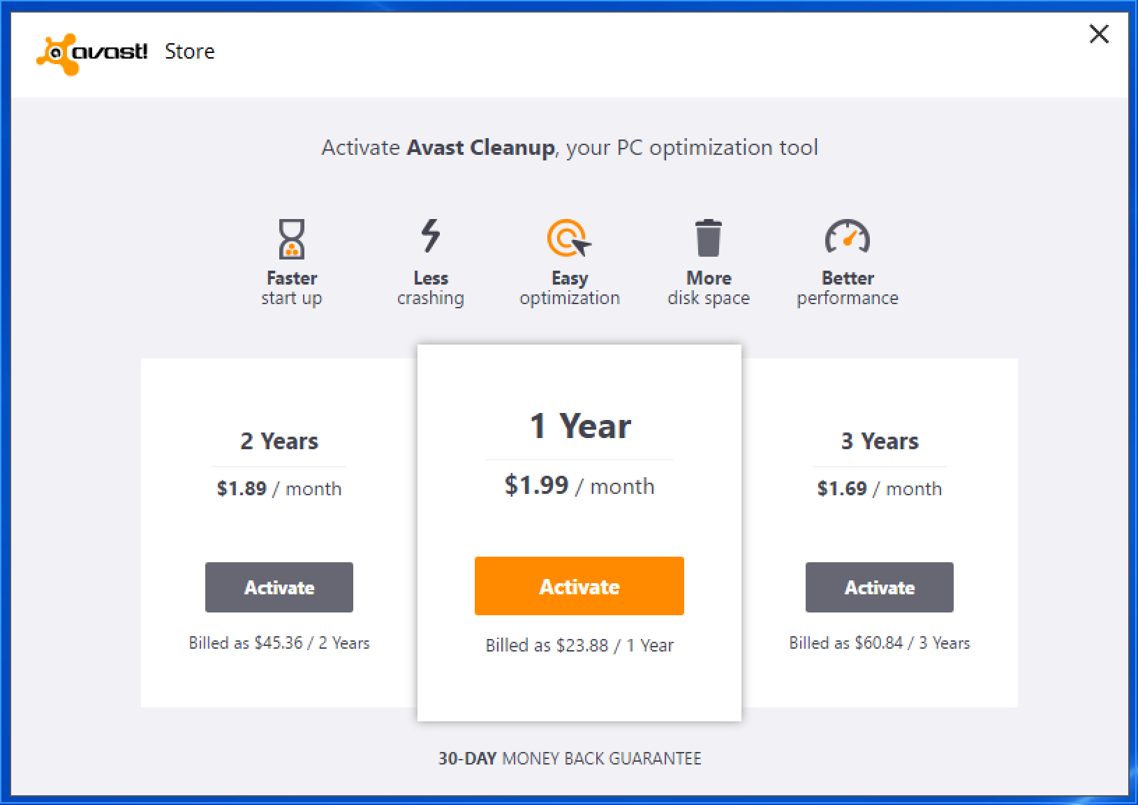 avast cleanup para pc free