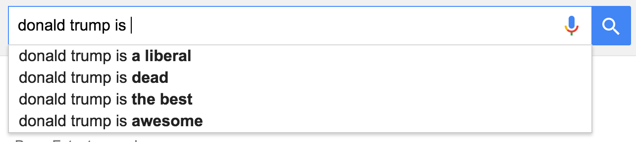 google suggest donald trump