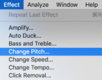 get started audacity mac mp3 audio editor change pitch