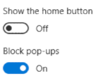 customize microsoft edge web browser home button new tabs, windows 10 win10