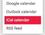 how to sync subscribe meetup.com calendar events apple ical calendar iphone mac