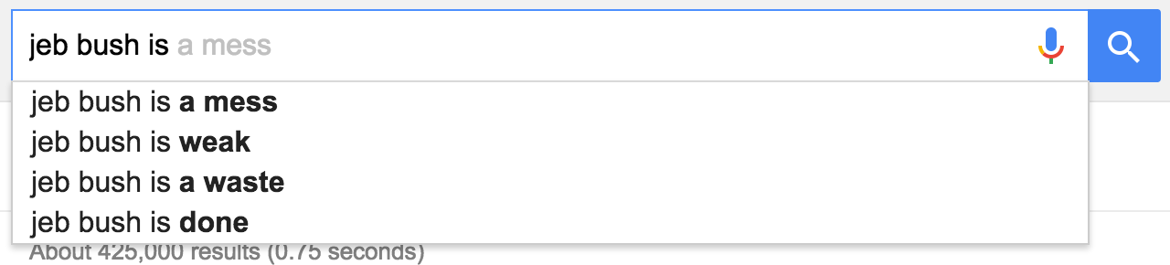 google suggest jeb bush