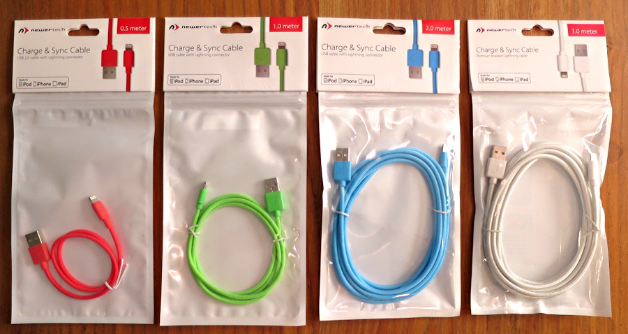 newertech color apple certified lightning cables