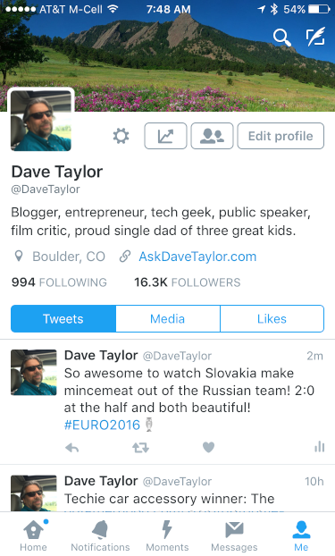 Replace your Twitter profile photo from your iPhone? - Ask ...