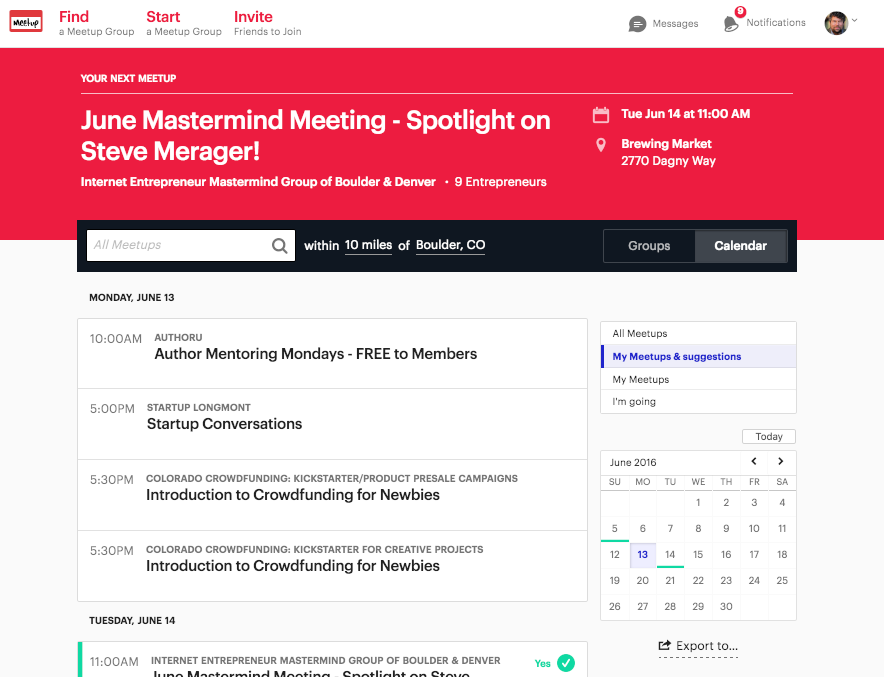 Add Meetup Events to my iPhone Apple Calendar? - Ask Dave Taylor