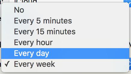 how often to refresh subscription data, meetup calendar apple ical subscription