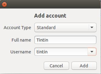 add user tintin to ubuntu linux