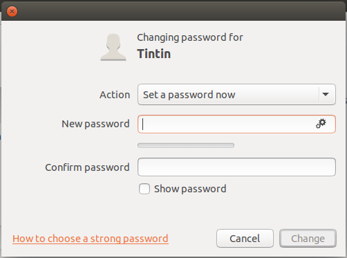 add account password linux