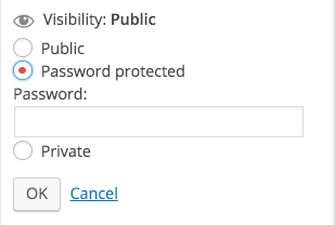 how to add a password protected wordpress wp post