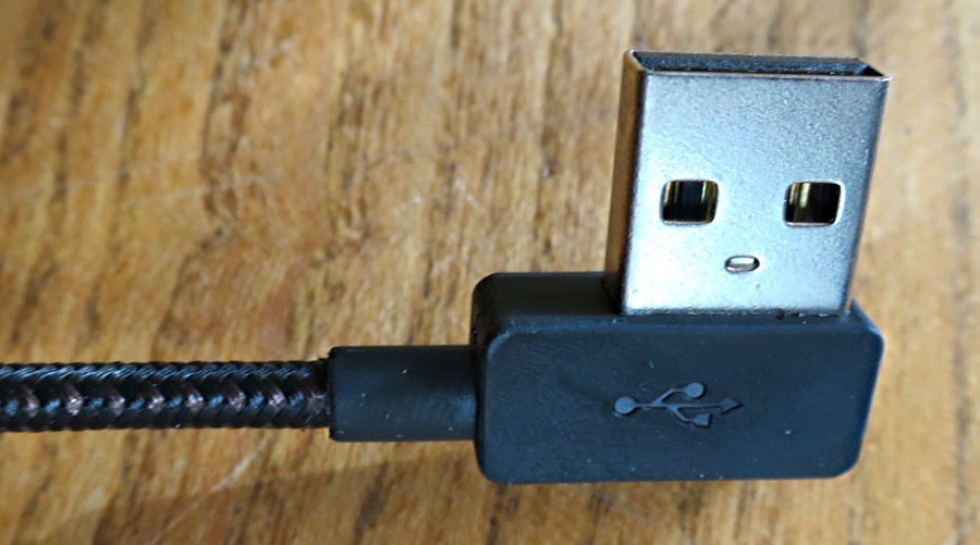 zus kevlar lightning cable 90-degree usb connector