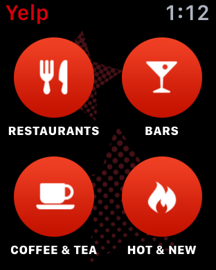 what do you seek in yelp app apple watch