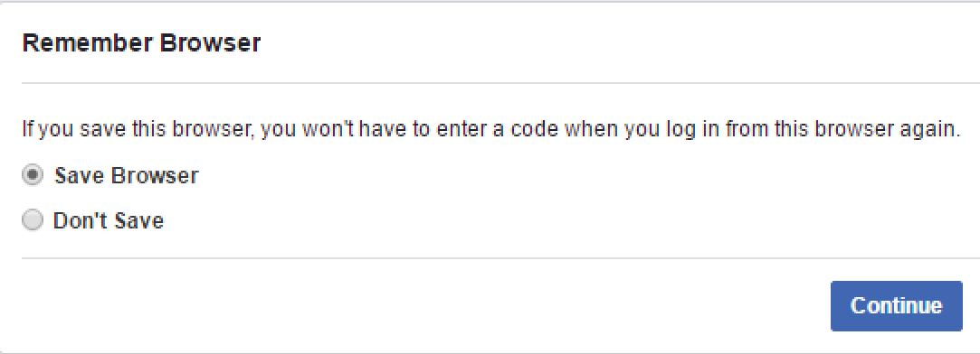trust this browser? facebook
