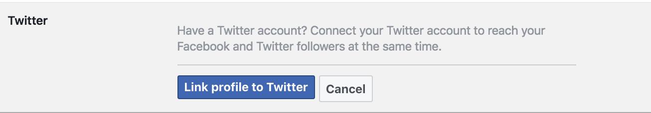 facebook followers twitter edit details specifics settings configuration preferences