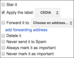 update categorize email gmail filter rule