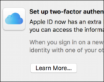 how to enable set up turn on two-factor 2-step authentication security password icloud apple id