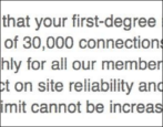 how many maximum max linkedin connections links friends warning